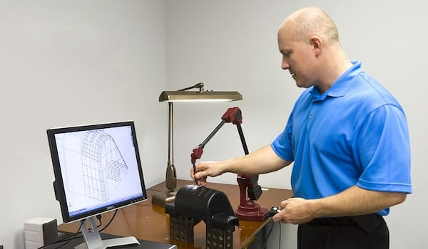 Joslyn Manufacturing Professional Performing Quality Assurance Testing