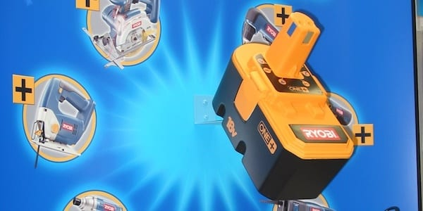 Plastic Thermoformed Power Tool at Trade Show